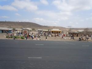 Masaii village market