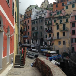Cinque Manarola houses and private boats
