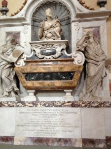 Florence Galileo's tomb in Santa Croce