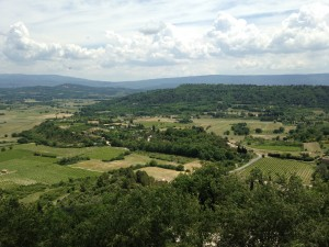 Gordes view of countryside