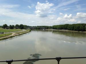 Rhone River from Pont de St. Benedict